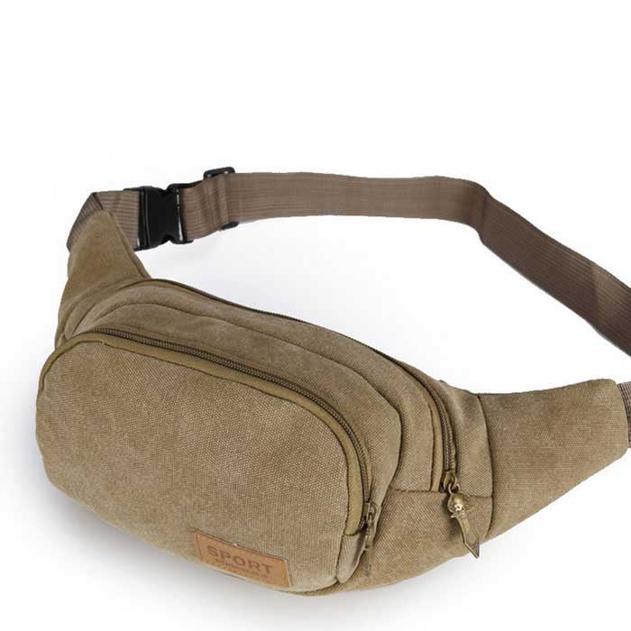Outdoor Mens Sports Waist Bag / Chest Bag - Brownish Yellow (2L)Form  ColorBrownish YellowBrandOthers,Others,-ModelN/AQuantity1 DX.PCM.Model.AttributeModel.UnitMaterialHigh-grade canvasTypeWaistpackGear Capacity2 DX.PCM.Model.AttributeModel.UnitCapacity Range0L~20LFrame TypeInternalRaincover includedNoBest UseRunning,Climbing,Family &amp; car camping,Mountaineering,Travel,CyclingTypeWaist PacksPacking List1 * Canvas bag<br>
