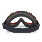 QooK Motorcycle Motocross Protective Glasses Goggle - Dark Red + Black