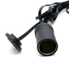 CS-240A1 Waterproof Automobile Female Cigarette Lighter Socket - Black