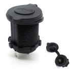 12~24V Car Cigarette Lighter Socket Waterproof Charging Dock - Black