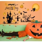 DIY 3D Halloween Decorative Wall Stickers Wall Art - Black + Yellow