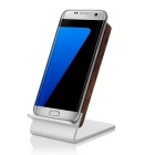 Three-coil Wireless Charging Stand Holder - Silver + Brown