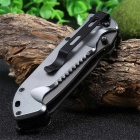Multifunctional Liner Lock Foldable Knife with Rope Cutter - Grey