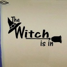 Avtagbar DIY 3D Witch Alphabet Wall Sticker - Svart