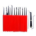Stylish Lock Pick Locksmith Unlocking Tool Kit - Red + Black