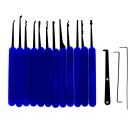 Stylish Lock Pick Locksmith Unlocking Tool Kit - Blue + Black