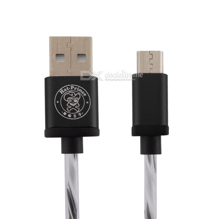 Hat-Prince Micro USB Data / Charger Cable for Android Phone - Black