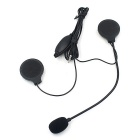 CS-053A1 Motorcycle Helmet Headset w/ Microphone - Black
