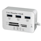 BSTUO 3-Port USB 3.0 HUB + Card Reader Support SD/TF/M2/MS - White