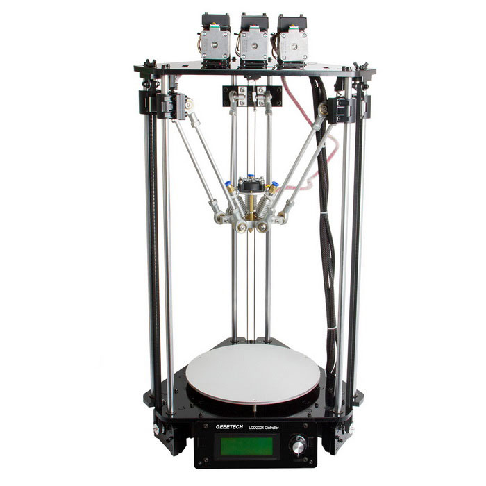 Geeetech Rostock 301 Mix Cor 3-em-1-out 3D Printer - Black