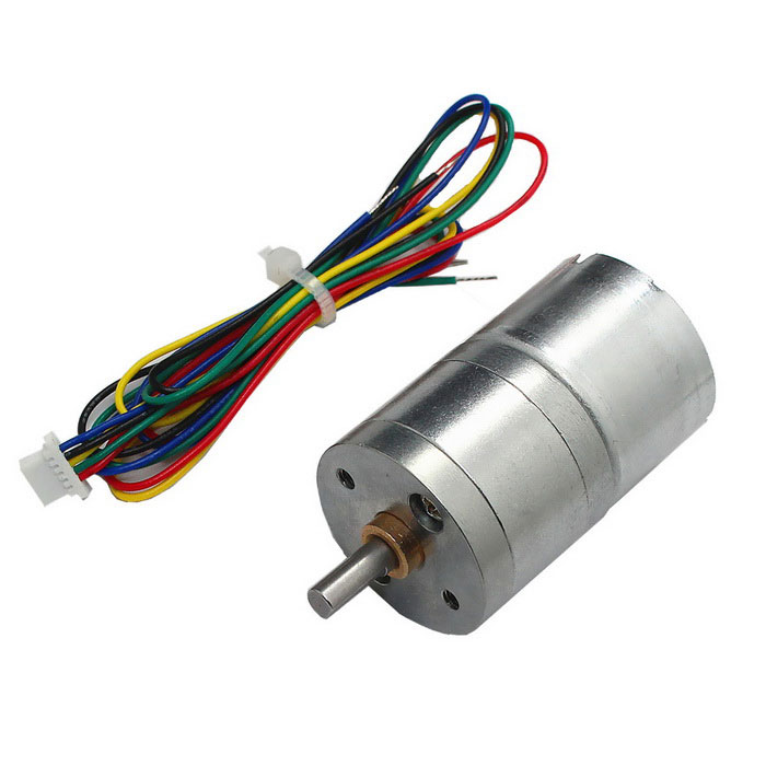DC 12V 9RPM Type 2418 Large Torque Brushless Gear Motor - Silver