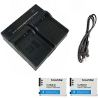 EL12 Digital Camera Battery x2 + Dual Charger for Nikon S6100 S9100 P300 S8100 S8200 S9500 P330