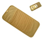 ZIQIAO CD DVD Car Sun Visor Card Case Wallet Storage Holder Bag -Beige