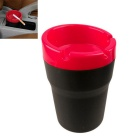 ZIQIAO Portable Computer Desk Car Dual Use Ashtray - Red + Black