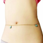 Naisten muoti Simple Cross Bikini Belly Body-ketju - Silver + Blue