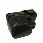 PU Leather Camera Case Bag for CanonSony NEX-6/A6000 Camera - Black