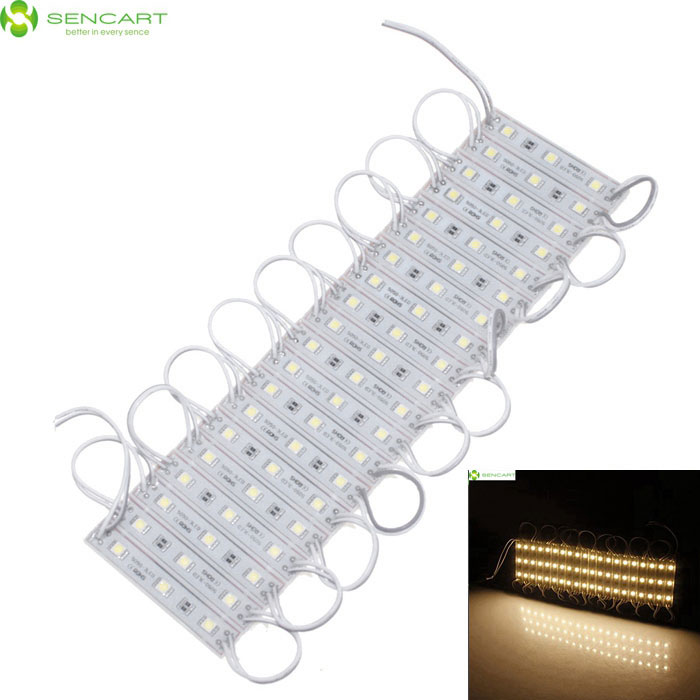 SENCART Résistant à l'eau 12W 60-5050 SMD Warm White LED Rectangle Modules
