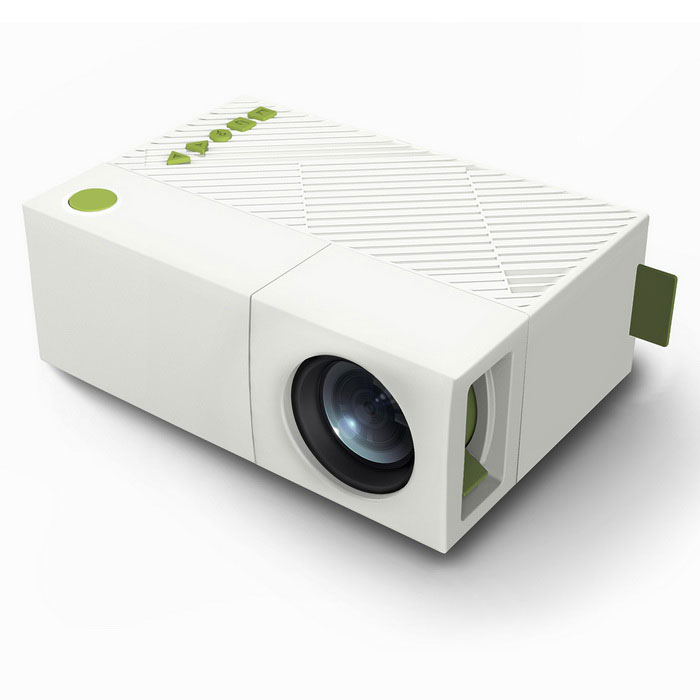 G19 home theater LED mini proyector w / sd, hdmi, av, USB - blanco