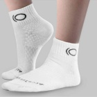 CAXA Men's Casual Antibacterial Ankle Sports Socks - White (Pair)