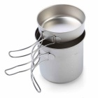 Palo-Maple Outdoor Camping Piknik Cooking Titanium Pot - Harmaa