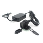 12V to 5V Waterproof Car USB Charger for Mobile Phone - Black