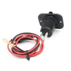 CS-243A1 Dual USB Car Charger for Motorcycle Automotive - Black