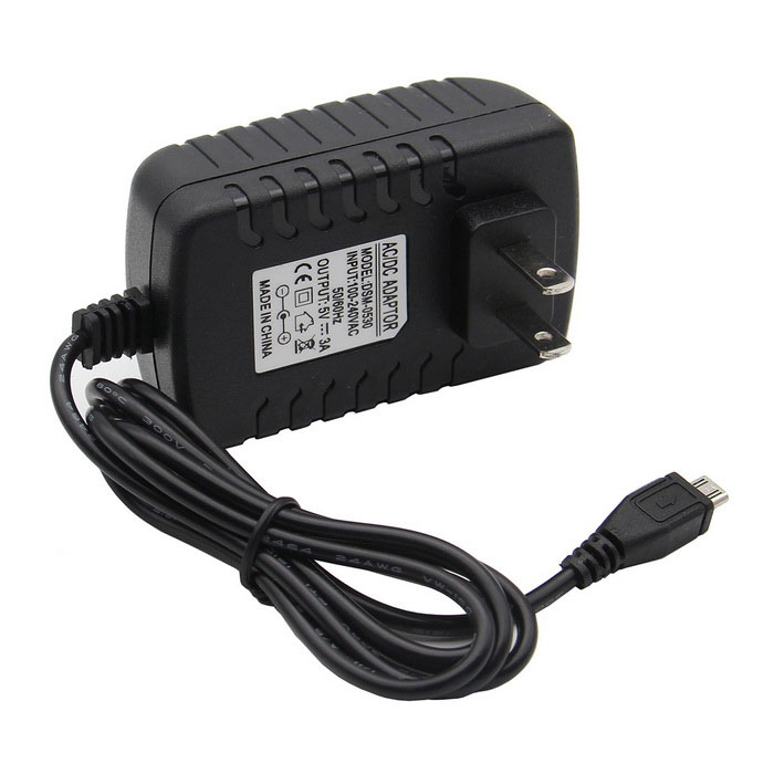 DC 5V 3.0A US Power Supply Micro USB AC Charger for Raspberry Pi 3B