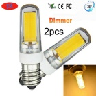 JRLED E14 5W Warm White Light 30-COB LED Dimmable Ceramic Bulbs (2PCS)