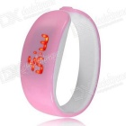 Women's Fashion PC Red LED Digital Bracelet Wrist Watch