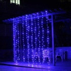 Decorative 9.8ft*9.8ft 300 LEDs Blue Window Curtain Lights (AC 220V)