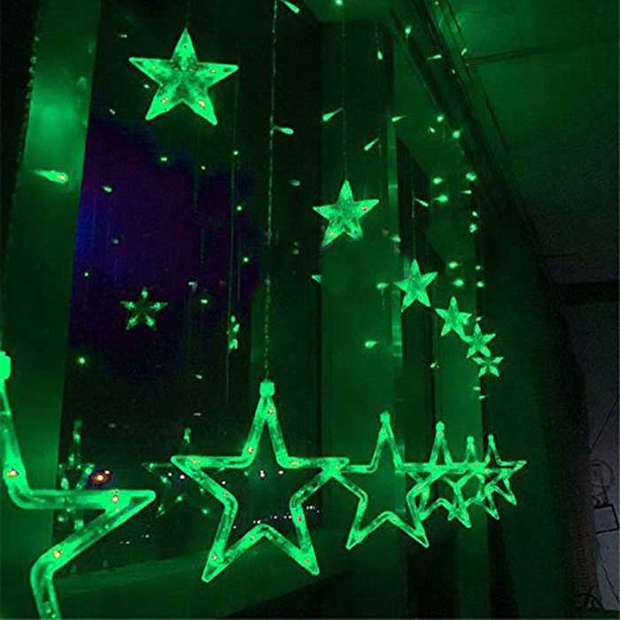 christmas decorative 138 led green star lights 3m w 1m h ac