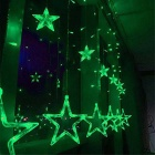 Christmas Decorative 138-LED Green Star Lights 3m(W) * 1m(H) (AC 220V)