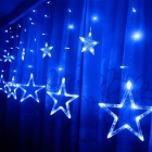 LED Star Fairy Light String para decoração interior exterior, LED Curtain Light for Christmas