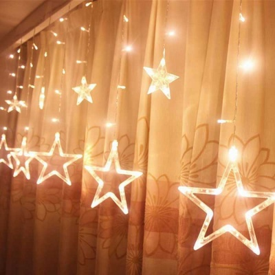 Christmas Decorative 138-LED Warm White Star Lights 3m(W) * 1m(H)
