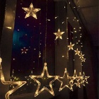 Natal Decorativo 138-LED Warm White Star Lights 3m (W) * 1m (H)