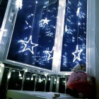 Christmas Decorative Cool White Star Light w/ 138 LEDs 3m(W) * 1m(H)