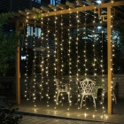 Decorative 9.8ft*9.8ft 300 LEDs Window Curtain Lights Warm White