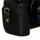 PU Leather Camera Case Bolsa para Nikon P900S DSLR Camera - Black
