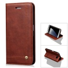 Protective PU + TPU Flip Wallet Case Slim Flip Cover w/ ID Card Holder, Magnetic Closure