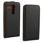Split Leather Flip Case for LG NEXUS 5X - Black