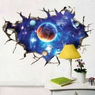 Removable DIY 3D Galactic Space Decorative Wall Sticker - Blue