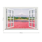 Removable DIY 3D Landscape Decorative Wall Sticker - Rose + Multicolor