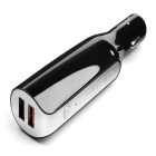 Mini Mobile Power Supply Dual USB Car Charger - Black
