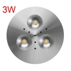 JRLED 3W Highlight 3 LED de forme ronde Armoire Lampe (AC 85 ~ 265V)