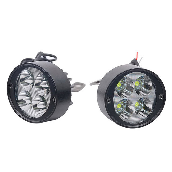 DC12-80V DIY Motorcycle 12W LED Headlight External Conversion Lamps