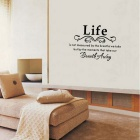 Removable DIY 3D English Sentence Decorative Wall Stickers - Black