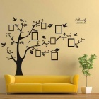 Removable DIY 3D Photo Tree Decorative Wall Sticker - Black
