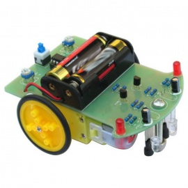 Tracking Robot Car Electronic DIY Kit With Gear Motor - Green + Black