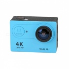 H9R Waterproof Wide Angle 4K Sports Camera w/ Remote Control - Blue