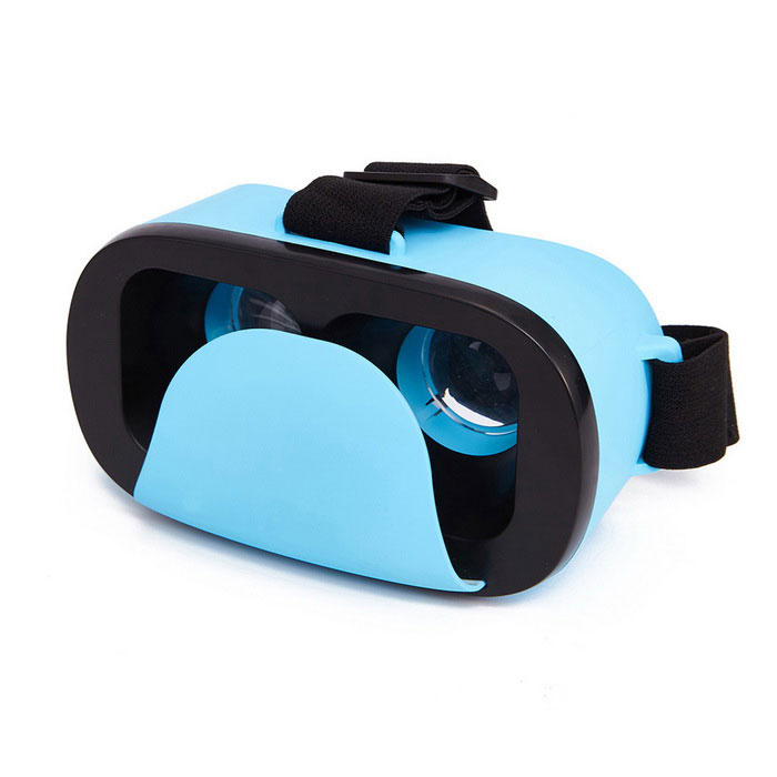 Head Mounted Virtual Reality 3D Glasses - Blue
